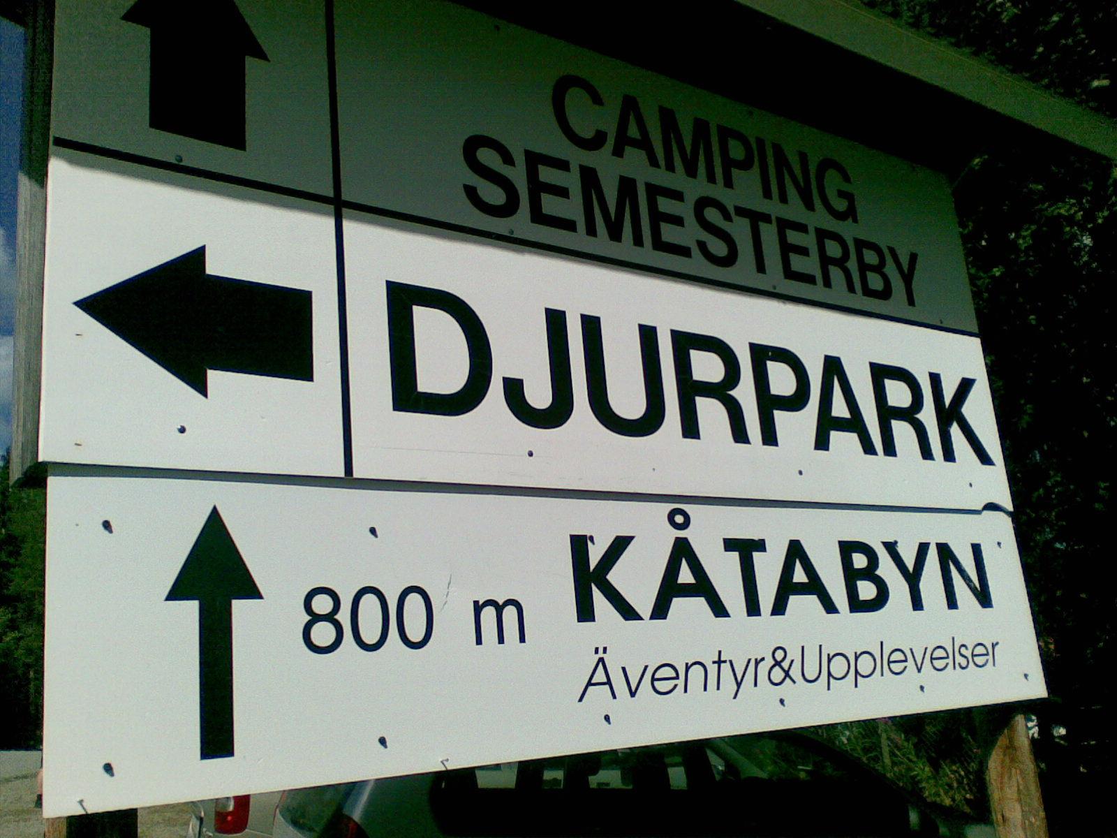 Vid entrén till Junsele Djurpark