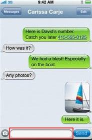 SMS-menyn i iPhone (Foto: Apple.com)