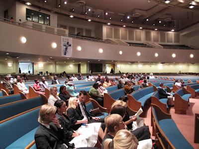 Stor nybyggd kyrka i New Jersey
